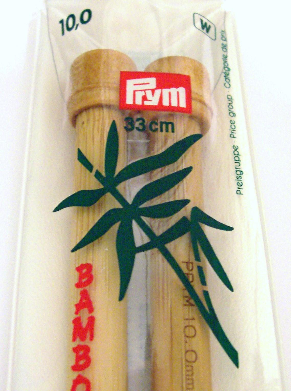 Prym 10mm, Length 33cm Bamboo Knitting Needles