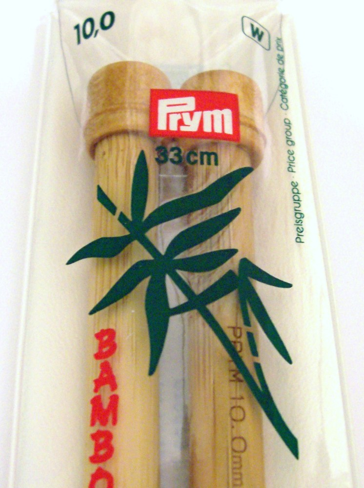 Prym 10mm, Length 33cm Bamboo Knitting Needles