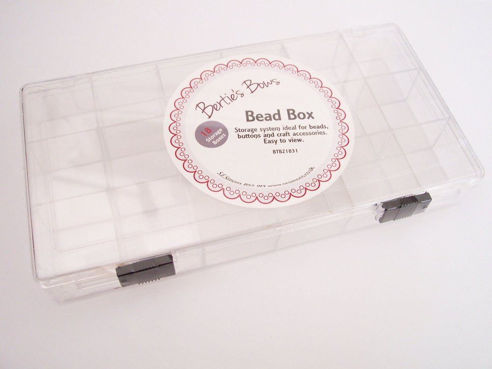 Bead Box Berties Bows 18 Compartments BTB21831 Buttons Crafts Findings