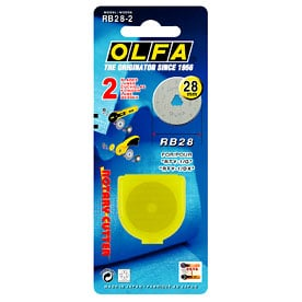 Olfa 28mm Rotary Cutter Blades Two Pack RB28-2