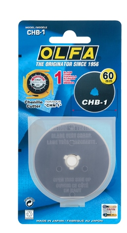 Olfa 60mm Chenille Rotary Cutter Replacement Blade CHB-1