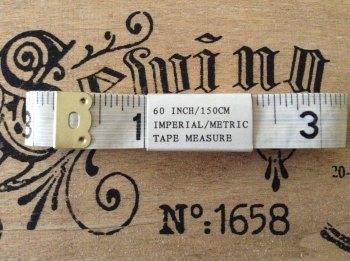 "Butterfly Tailors Tape Measure Fibreglass Metal End 60"""