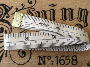 Tailors Tape Measure Fibreglass Metal End