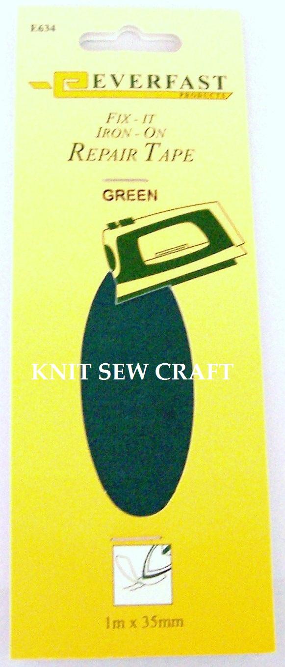 Everfast Fix It Iron On Fabric Repair Tape GREEN