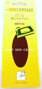Everfast Fix It Iron On Fabric Repair Tape BROWN
