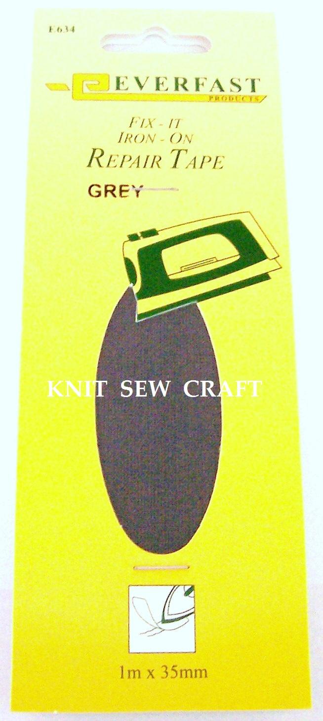 Everfast Fix It Iron On Fabric Repair Tape GREY