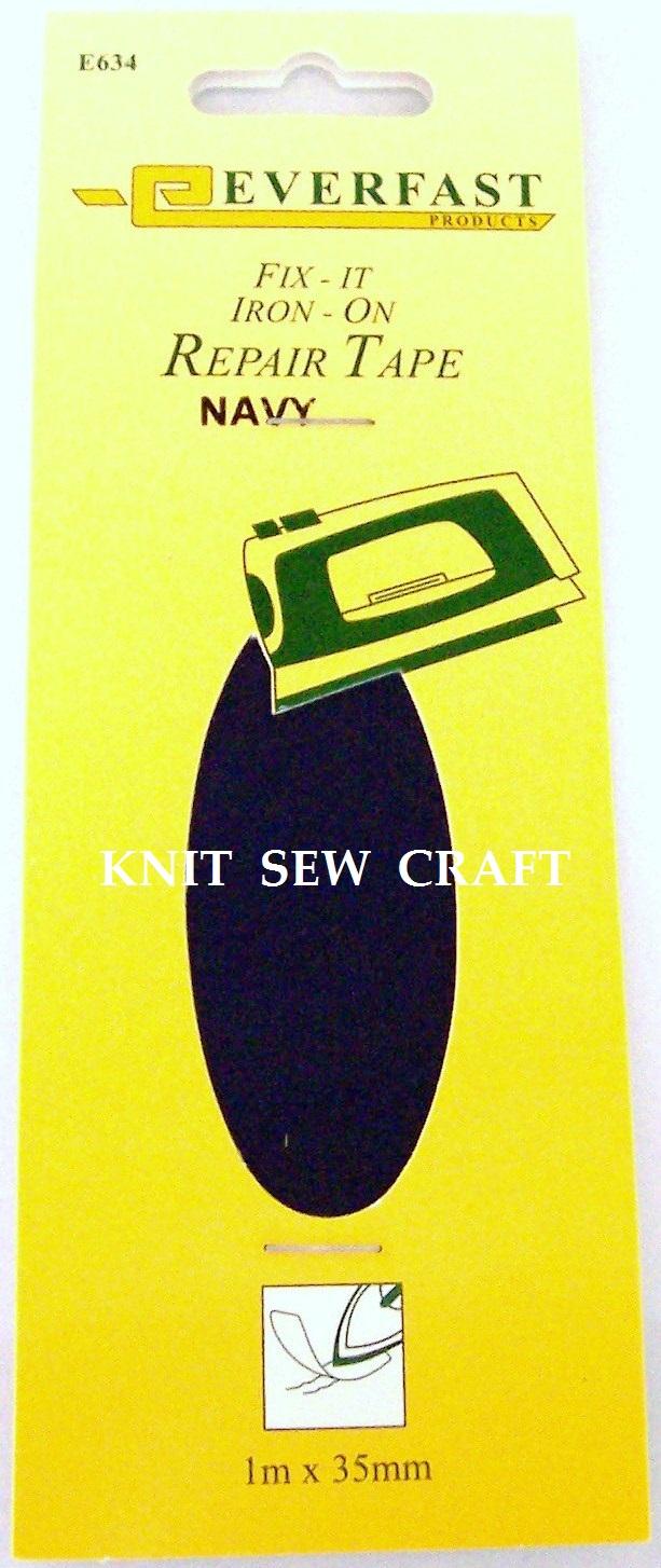 Everfast Fix It Iron On Fabric Repair Tape NAVY BLUE