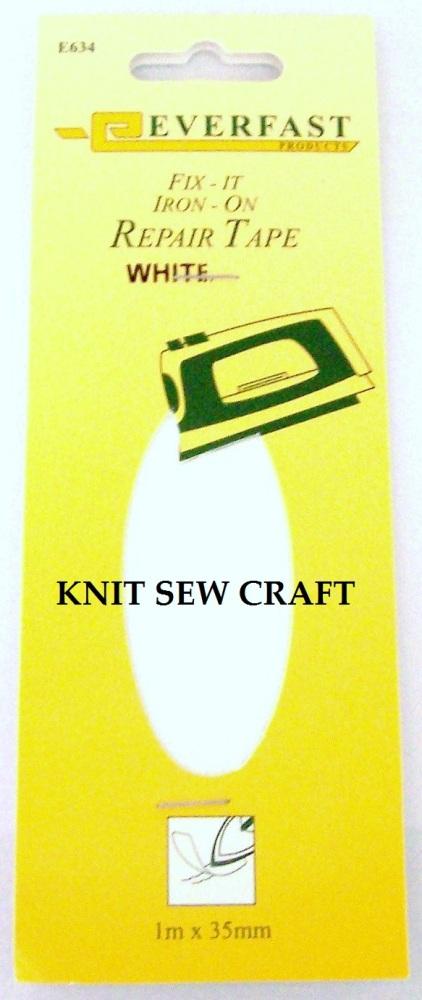 Everfast Fix It Iron On Fabric Repair Tape White