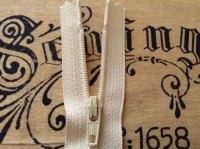 Cream Zip Fastener YKK Nylon Trouser Dress Zipper Closed End 18cm Long