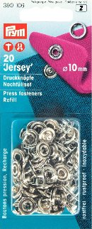 Prym Press Snap Fasteners 10mm refill pack SILVER 390106