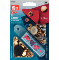 Prym Press Snap Fasteners 15mm Anorak 390314 GOLD