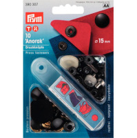 prym press snap fasteners 15mm anorak 390307 black