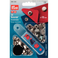 prym press snap fasteners 12mm anorak 390330 SILVER