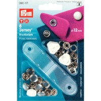 prym press snap fasteners 12mm jersey cap 390117 pearl