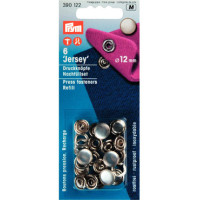 prym press snap fasteners 12mm jersey cap 390122 pearl refill