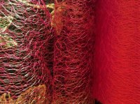 Spiders Web Net Sold Per Half Metre Length Red Colour