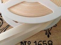 Cream Satin Bias Fabric Trimming Per Metre