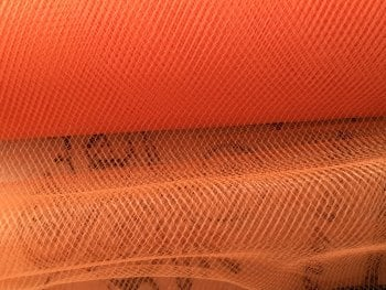Orange Tulle Sold By The Metre Length