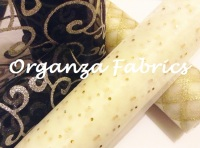 organza fabric patterned plain snow sheer club green
