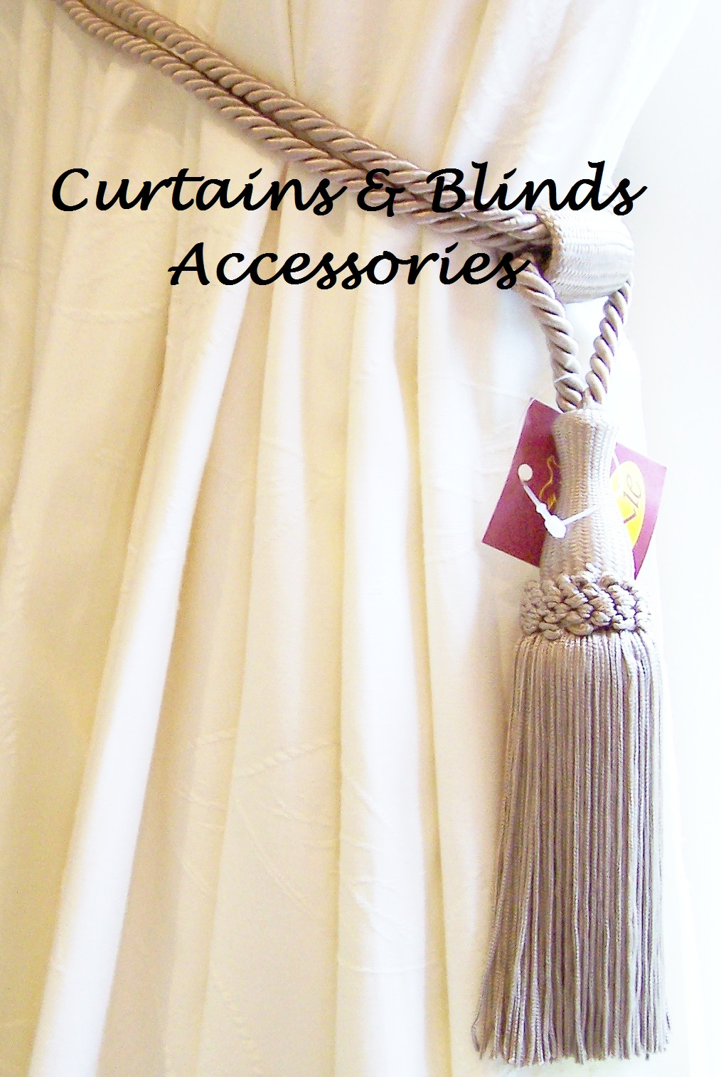 Classic Style Curtain Tieback With Tassel, Colour: Fawn