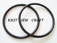 One Pair Black Round Bag Handles for Handmade Knitted Fabric Bags