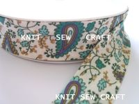 Paisley Pattern Cotton Bias Tape By The Reel 883-1381