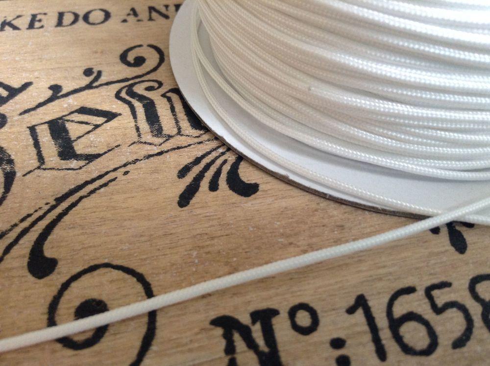 Roman Blind Cord 10 Mtr White for Festoon Austrian Blinds Pulls Cleats