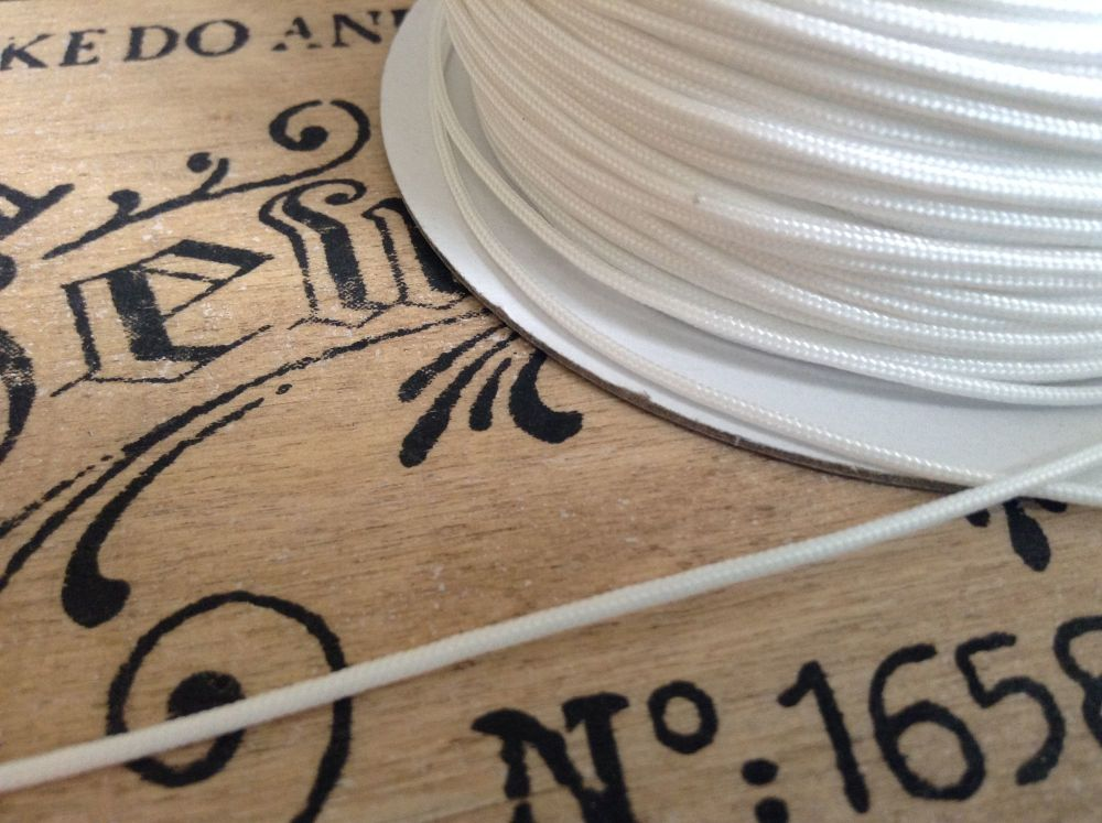 Roman Blind Cord 5 Mtrs White for Festoon Austrian Blinds Pulls Cleats