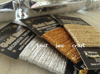 metallic threads and fabrics