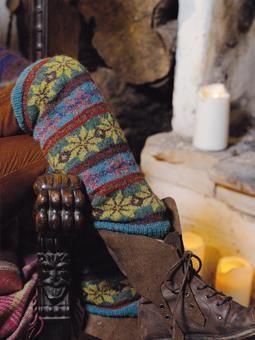 rowan fair isle legwarmers