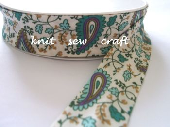 green paisley pattern fabric