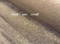 Silver Tulle Net Metallic Tutu Material Per Metre