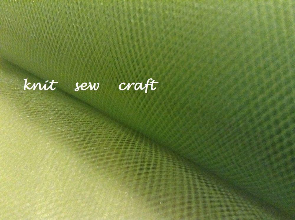 Lime Green Tulle Net 15cm Netting Craft Material Per Metre