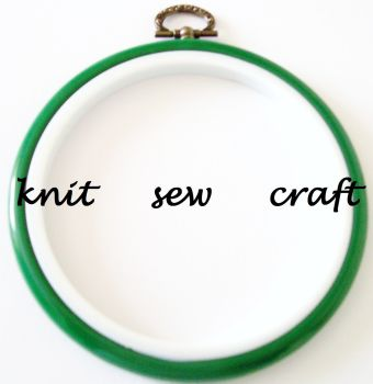 "Green 4"" Round Flexi Hoop/Embroidery Hoop"