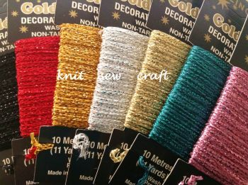 metallic glitter sewing thread