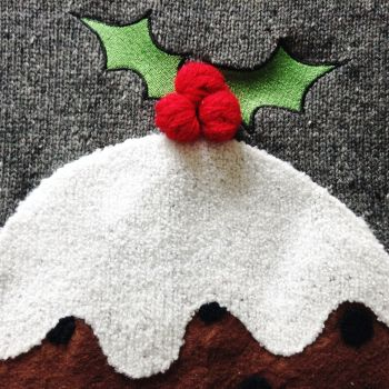 knitted christmas pudding