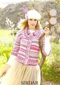 Sirdar Crofter Chunky Knitting Pattern 9205 Easy Knit Jacket