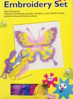 Embroidery Kit With Wool Needles Cross Stitch Board Picture Pattern