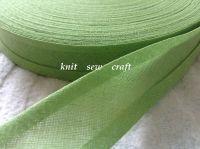 willow green bias binding 100% cotton fabric tape 3 mtrs x 25mm 6406