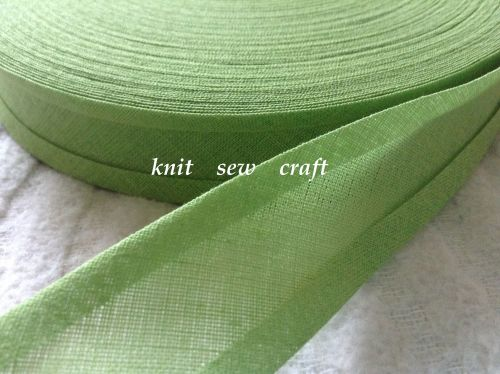 willow green bias binding 100% cotton fabric tape 3 mtrs x 25mm 6406