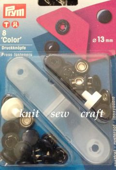 prym 13mm press snap fasteners DENIM 390423 navy blue