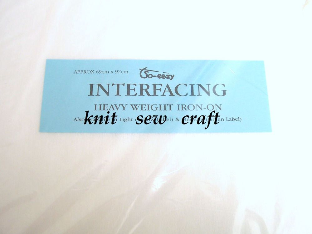 Fusible Interfacing HEAVY WEIGHT Interlining One Sheet