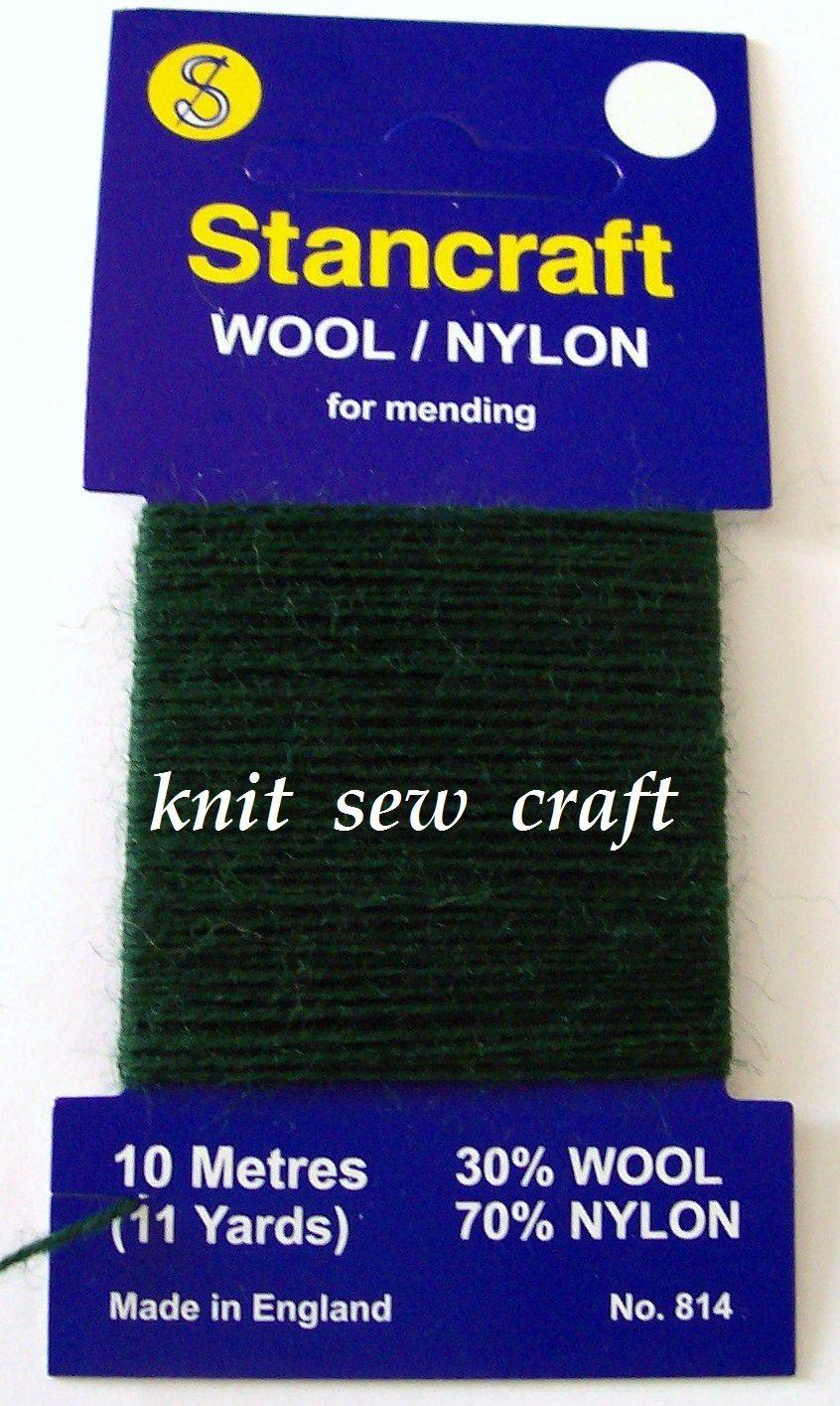10 Metres Stancraft Sock Darning Wool: DARK GREEN