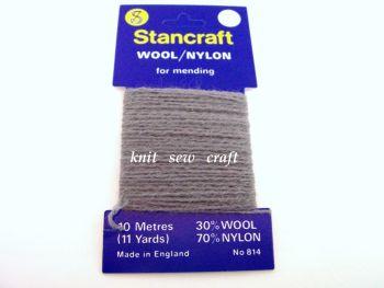 Sock Darning Wool Mid Grey - Stancraft 10 Metres