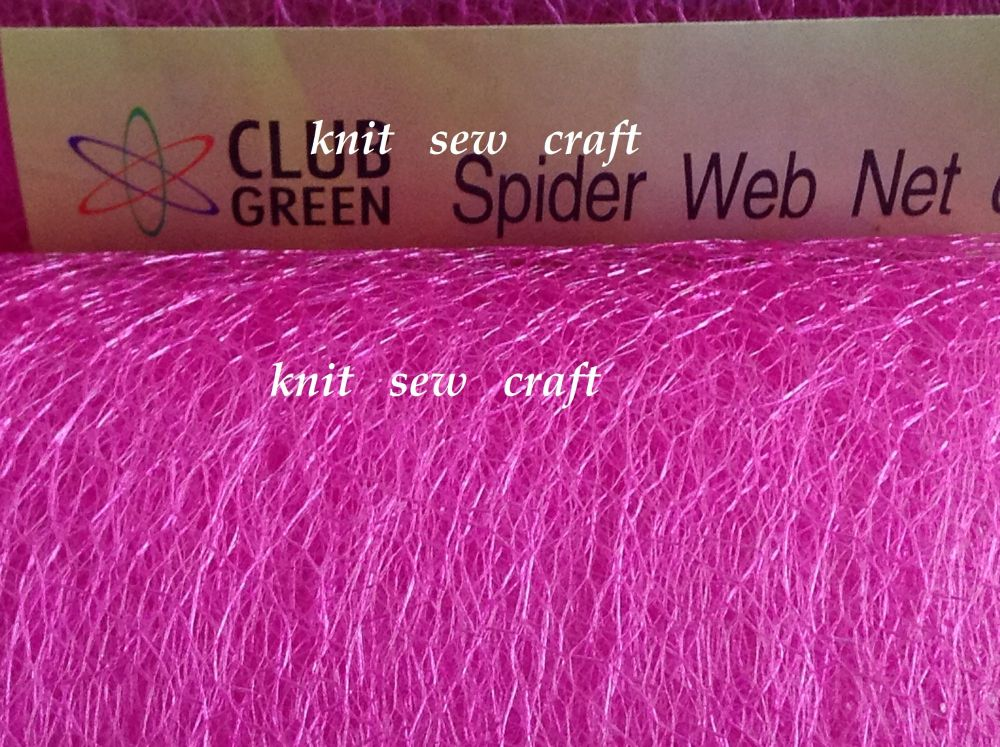 Bright Pink Spiders Web Netting Sold Per Half Metre Length