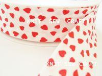 hearts pattern cotton bias binding