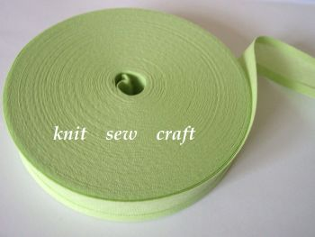 25mm wide sewing tape - apple green