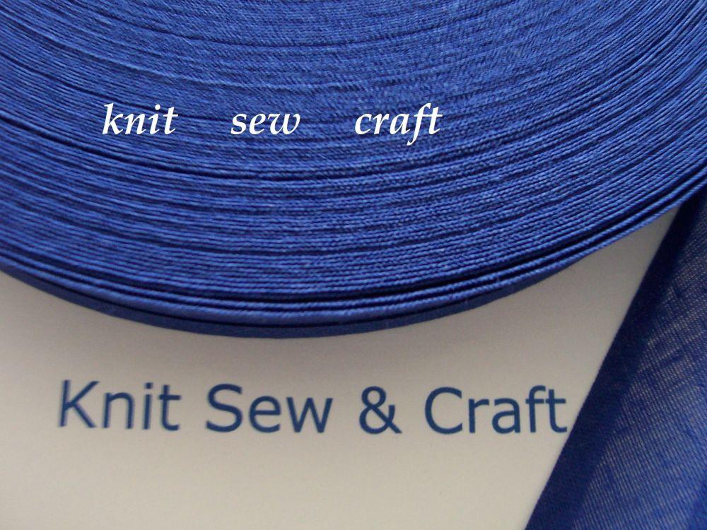indigo blue bias binding 1 metre x 25mm 100% cotton folded sewing tape
