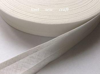 Pale Ivory Cotton Bias - Sold Per Metre