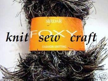 Sirdar Foxy Knitting Wool - Badger Grey Black